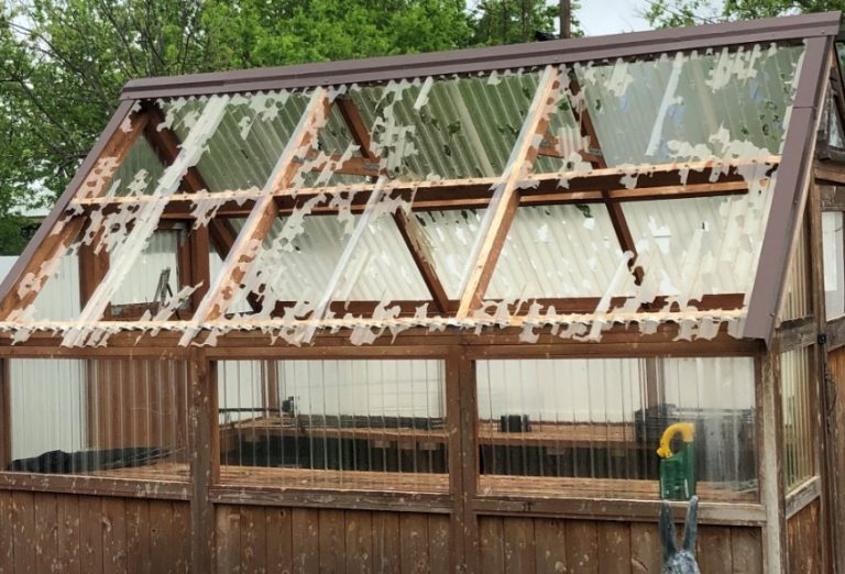Hail Damaged Roof in Pleasant Hill Missouri