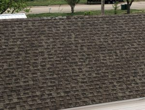Pink Hail Damaged Asphalt Shingles